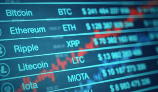 Stocks for the most well-known cryptocurrencies