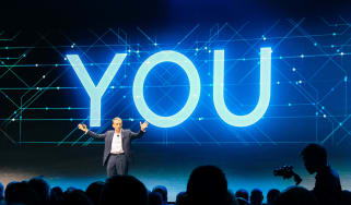 Pat Gelsinger onstage at VMworld 2019