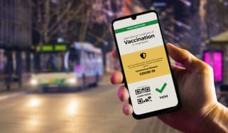 A verifiable vaccination certificate on a smartphone