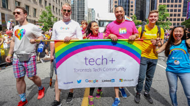 Tech+ LGBTQ+ parade in Toronto