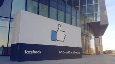 A view of Facebook's Irish headquarters in Dublin