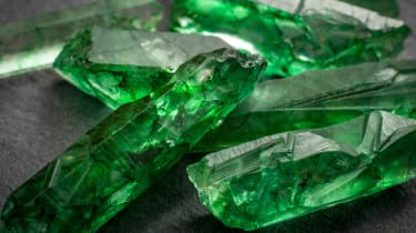 A group of emeralds