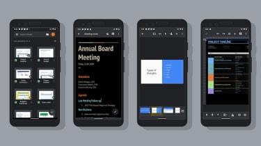 Dark mode on Google apps