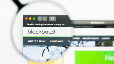 The website of database services provider Blackbaud
