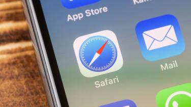 The Safari logo displayed on an iPhone screen
