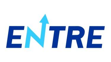 Entre logo on white background