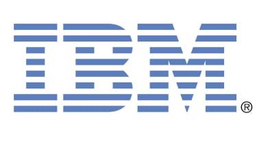 IBM logo on a white background