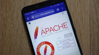 The Apache Foundation website as seen on a smartphone