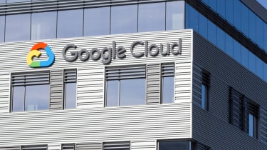The Google Cloud company logo fixed onto an office building