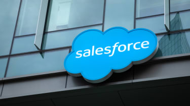 Salesforce sign on its headquarters
