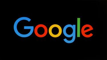 Google Logo over black