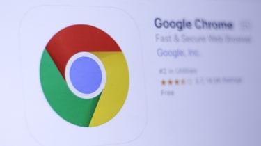 The Google Chrome logo shown on a web page