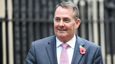 The former international trade secretary Liam Fox