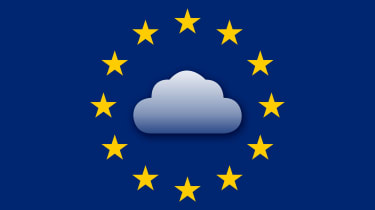 EU stars surrounding cloud
