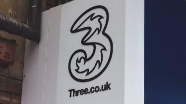 A ThreeUK shop sign