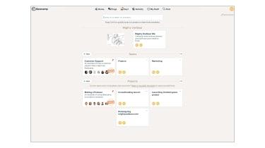A screenshot of Basecamp 3's main user interface screen