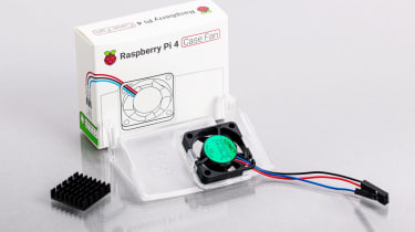 Raspberry Pi 4 Case Fan on a white background