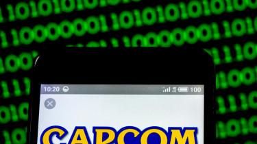 CAPCOM logo on a smartphone screen
