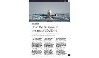 airplane taking off - how has COVID-19 affected air travel industry