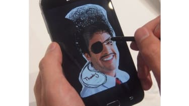 Annotating an image on the Samsung Galaxy Note