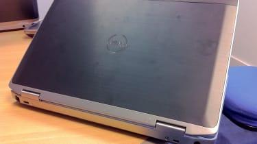 The aluminium lid of the  Dell Latitude E6320