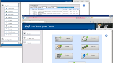 Intel's Active System Console software comes as standard and uses the node's BMC to provide basic monitoring facilities.