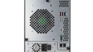 The rear of the Thecus N5200XXX.