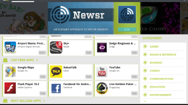 A selection of the Android 3.0 Honeycomb-optimised apps available on the Android Market