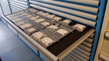Kroll Ontrack's stock of spare hard disks