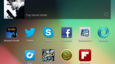iPad vs Nexus - Jelly Bean home screen