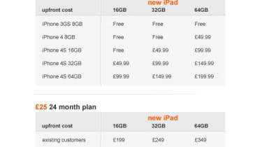 Orange new iPad pricing