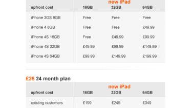 Orange new iPad pricing