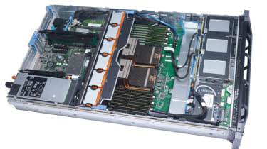 The interior of the Dell PowerEdge R715