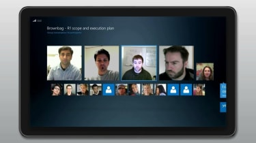 Microsoft Lync 2013 - Tablet conference call