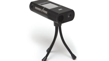 The bundled mini tripod isn't sturdy enough to keep the image still while you're poking the screen.