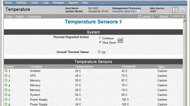 The server also comes with HP's System Management Homepage which provides simple web browser server monitoring.