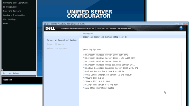 The iDRAC6 modules enable Dell's Lifecycle Controller and UEFI which provide some handy operating system deployment tools.
