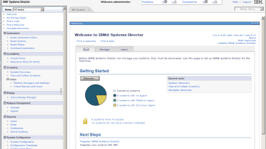IBM's Systems Director software is included as standard and provides plenty of systems management and monitoring tools.