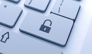 Open padlock key
