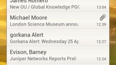 HTC One S - email widget