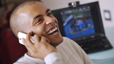 A Skype user