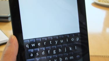 Typing is oddly easier when the Streak 7 is held vertically.