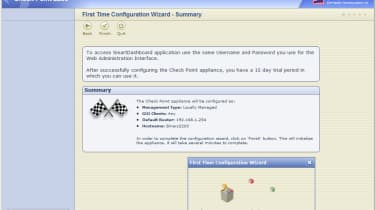 The appliance's web interface provides a quick start wizard to get the network ports configured.
