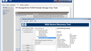 Installation is a very swift process and helped along by HP's handy array discovery tool.