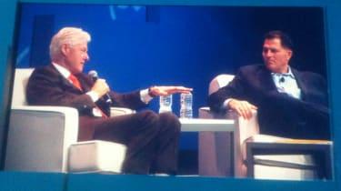 Bill Clinton and Michael Dell