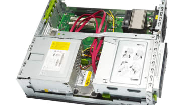 The interior of the Fujitsu Primergy MX130 S1