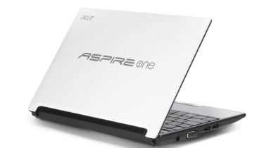 The lid of the Acer Aspire One AOD255-N55DQws Android netbook