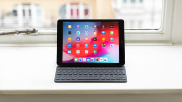 Apple iPad 10.2 (2019) on a window sill