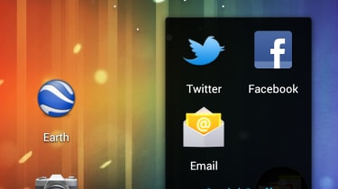 Organise apps into folders by dragging and dropping them onto each other.