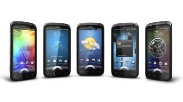 The customised lock screen on the Sensation courtesy of HTC Sense